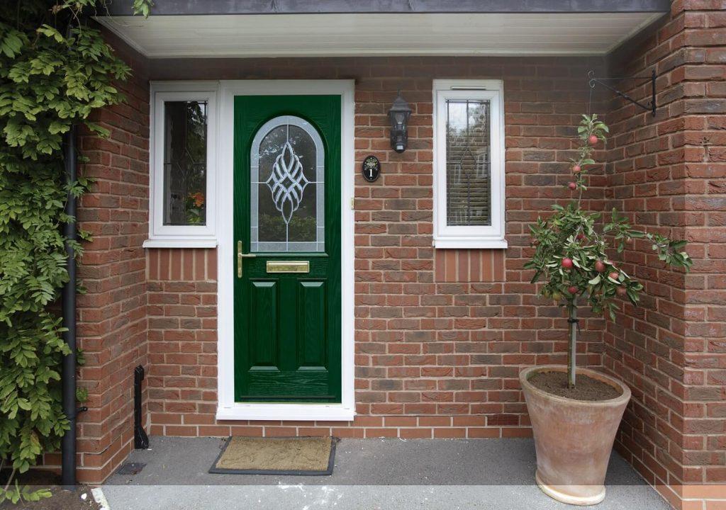 Forest green composite door