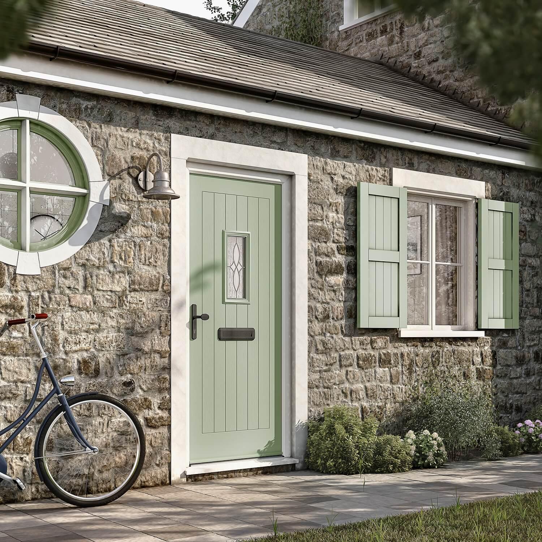 Rustic Chartwell Green composite door