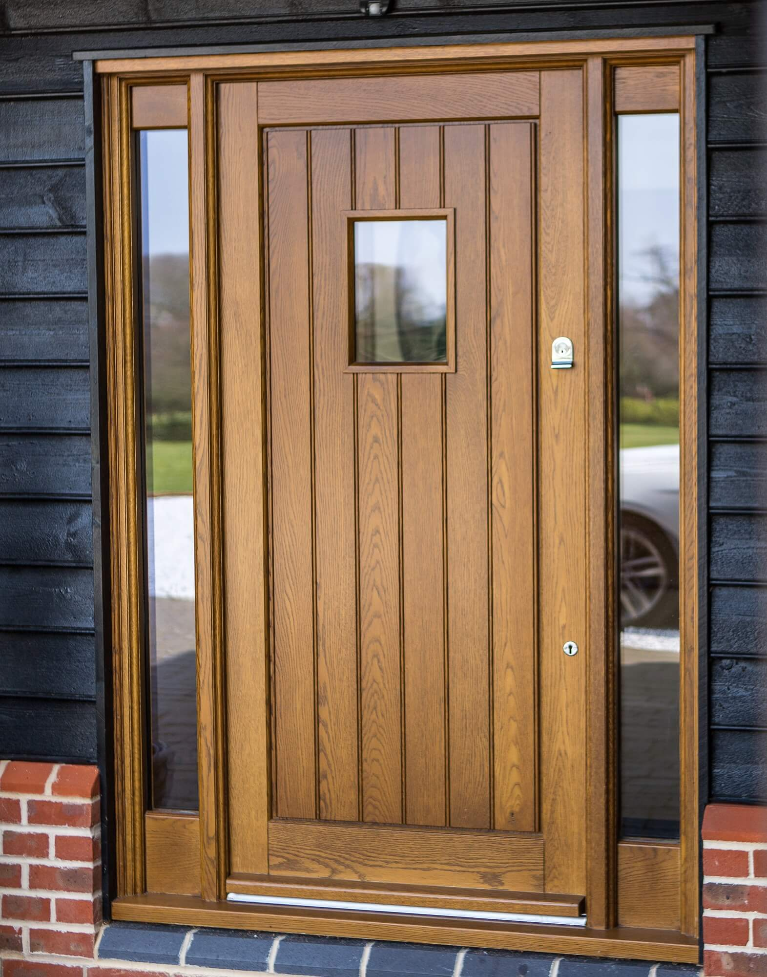 Oak timber front door