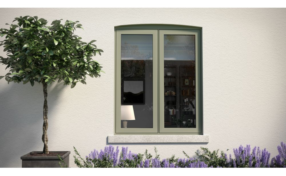 Aluminium flush sash casement window