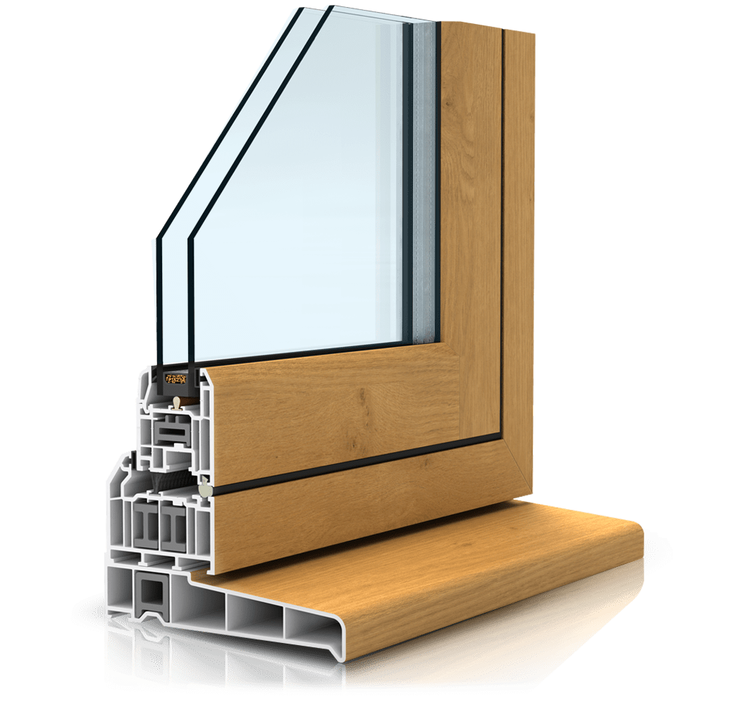 Flush sash window profile cutout