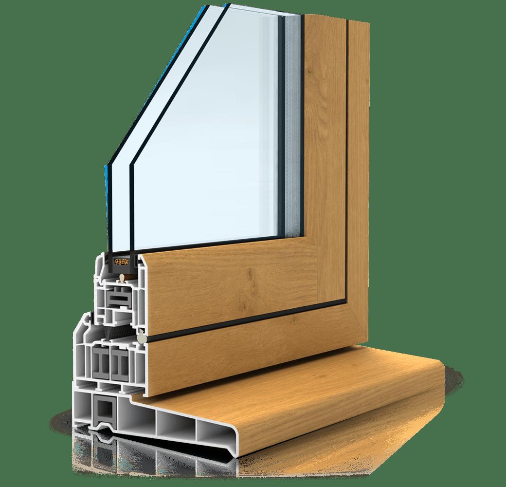 Flush sash window profile cutout