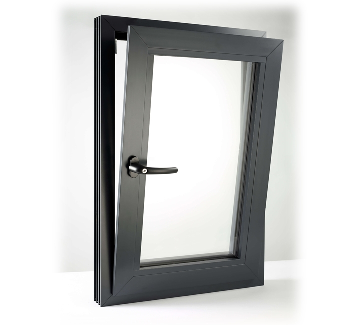 flush tilt and turn window in Anthracite Grey