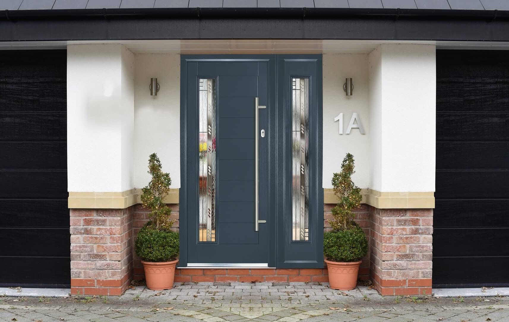 Anthracite grey composite front door