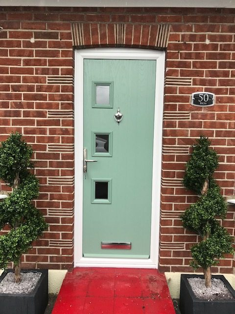 Chartwell Green Composite Door with knocker