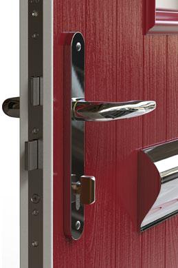 Firedoors ironmongery close up