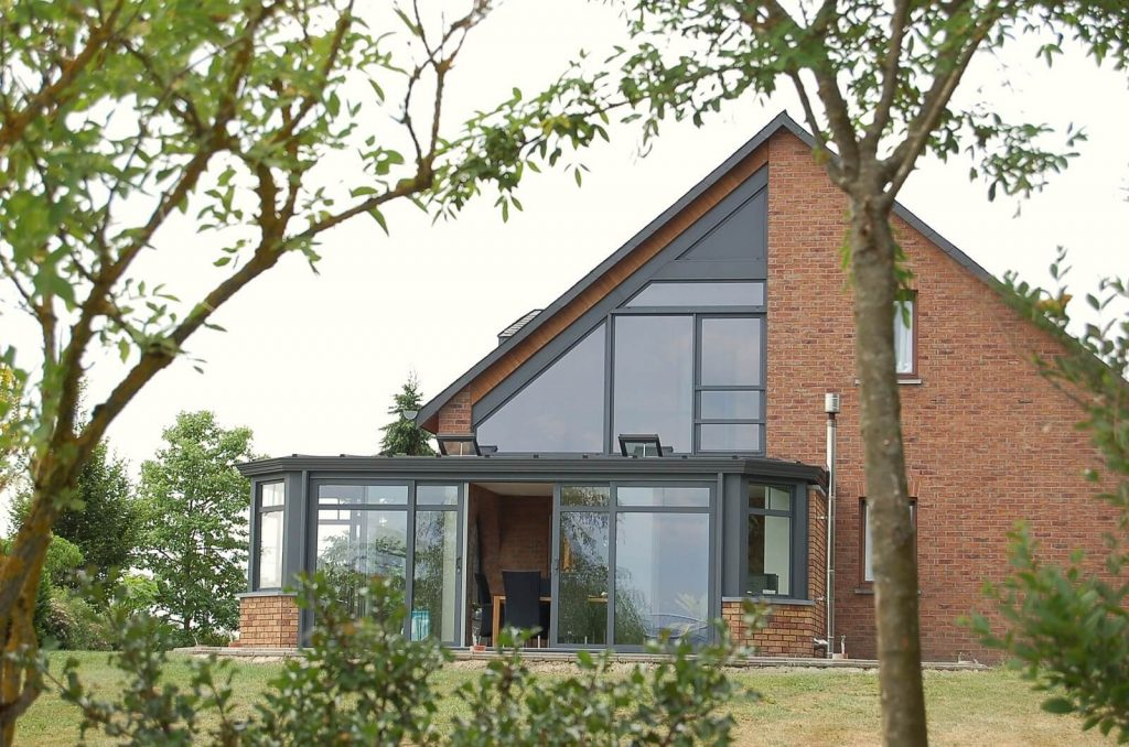 Grey SMART Ali Conservatory with Gable End