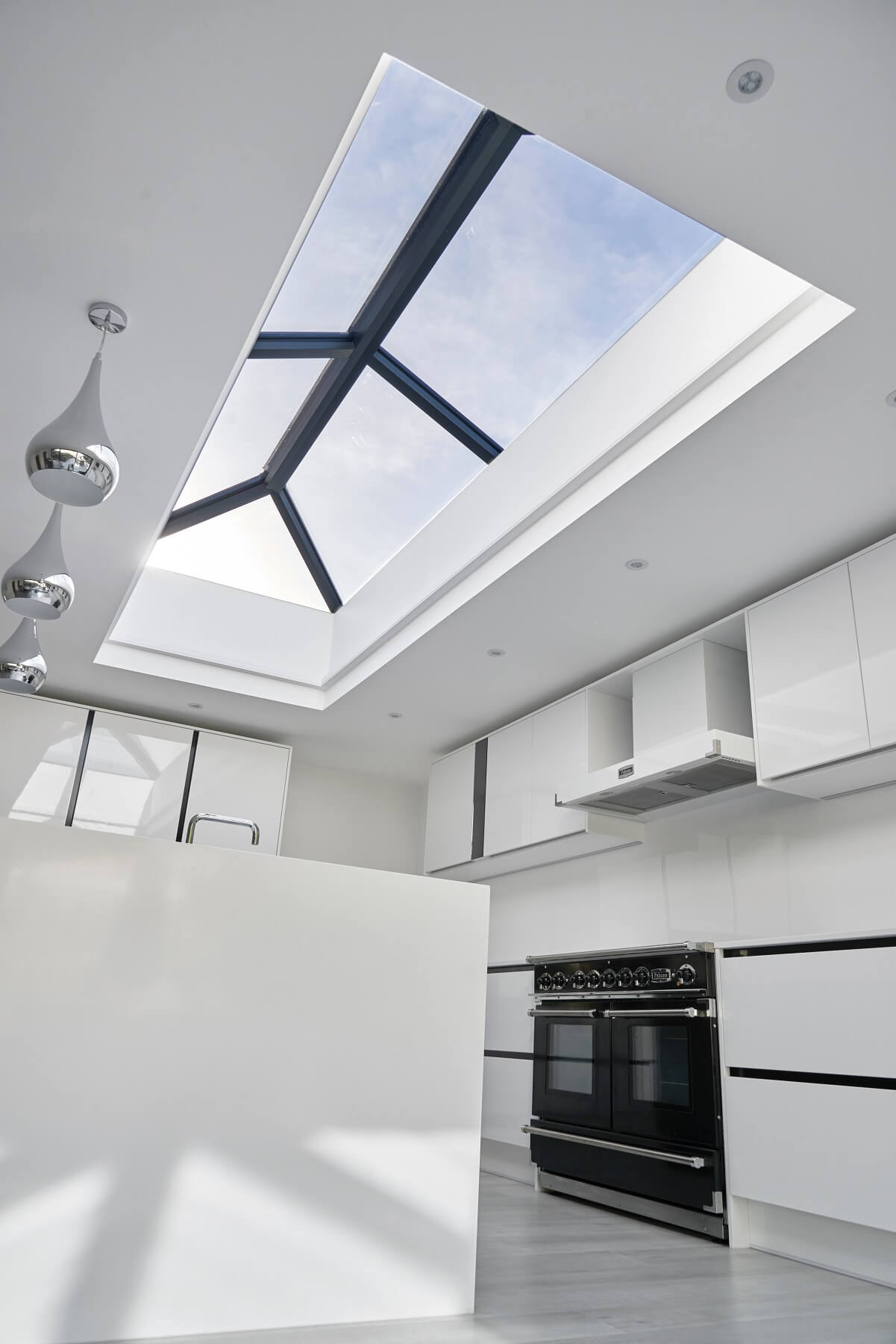 Interior view of lantern roof