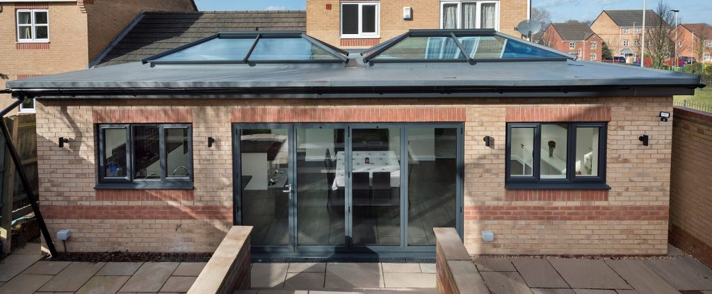 Large extension with Ultrasky roof lanterns
