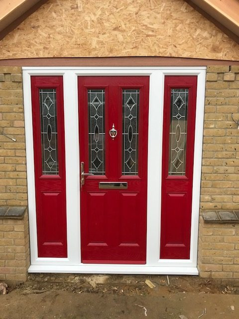 Red Composite Door Set