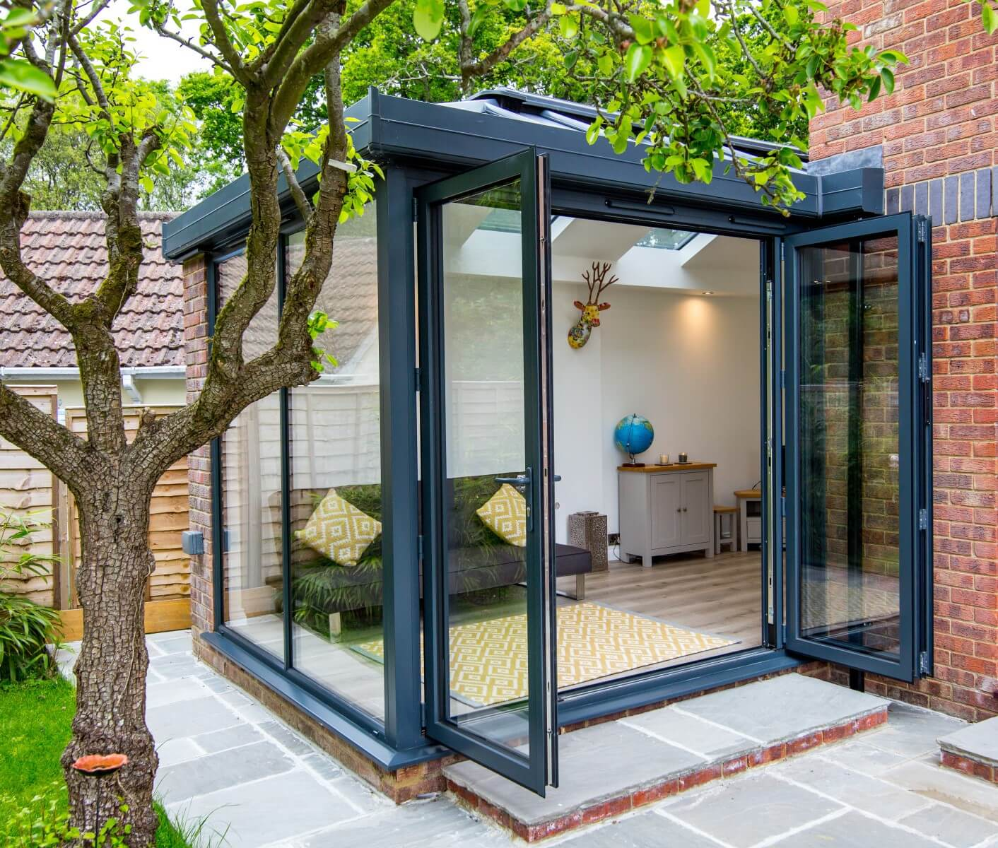 Small grey ultraframe conservatory